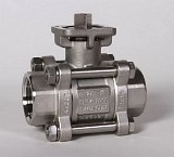 2-Way Stainless Steel Ball Valve 3-Piece Body
