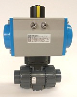 Pneumatic Actuator with PVC Ball Valve